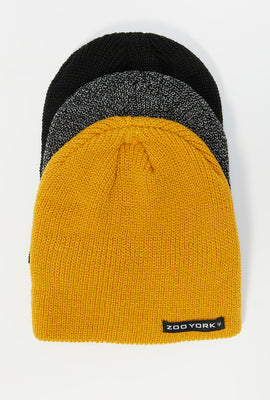 Zoo York Mens Beanies (3-pack)