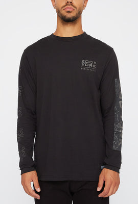 Zoo York Mens Reflective Camo Logo Long Sleeve Shirt