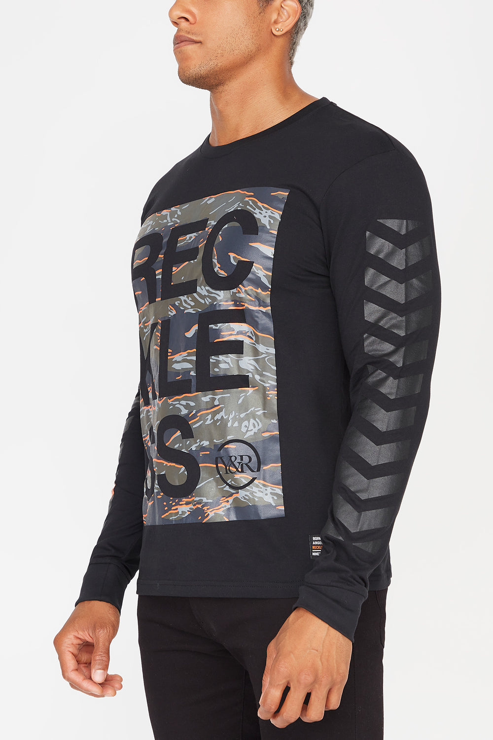 Manches Longues Logo Camouflage Young & Reckless Homme Noir