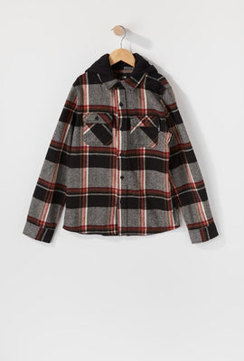 Zoo York Boys Hooded Flannel Shirt