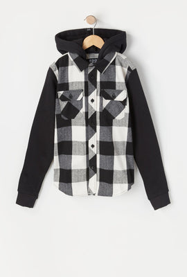 Zoo York Youth Plaid Button-Up