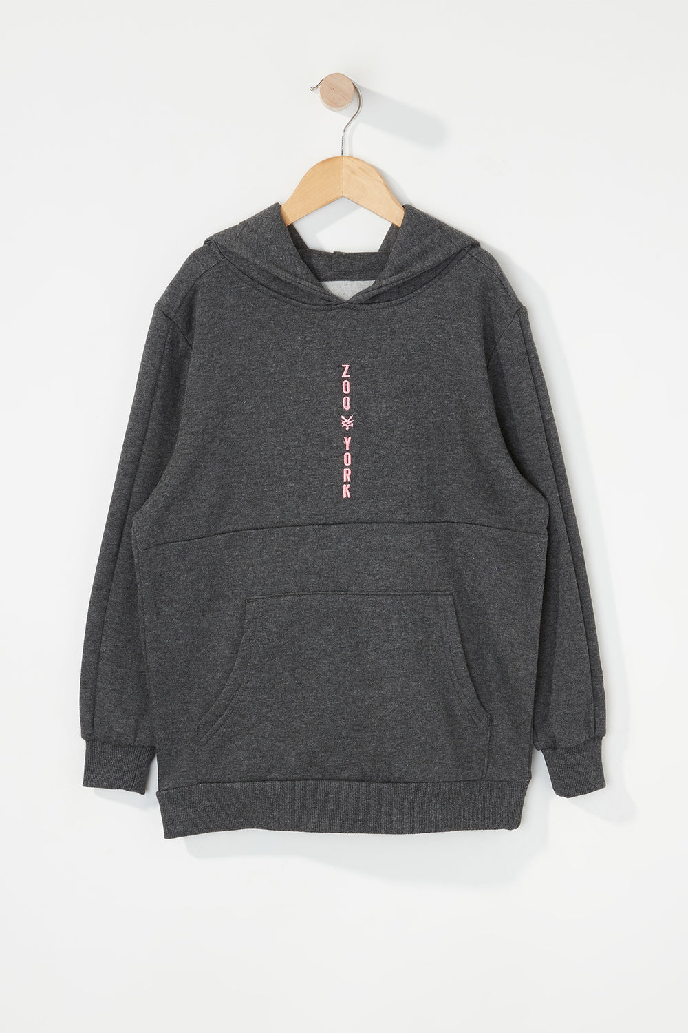 Zoo York Boys Embroidered Logo Hoodie Charcoal