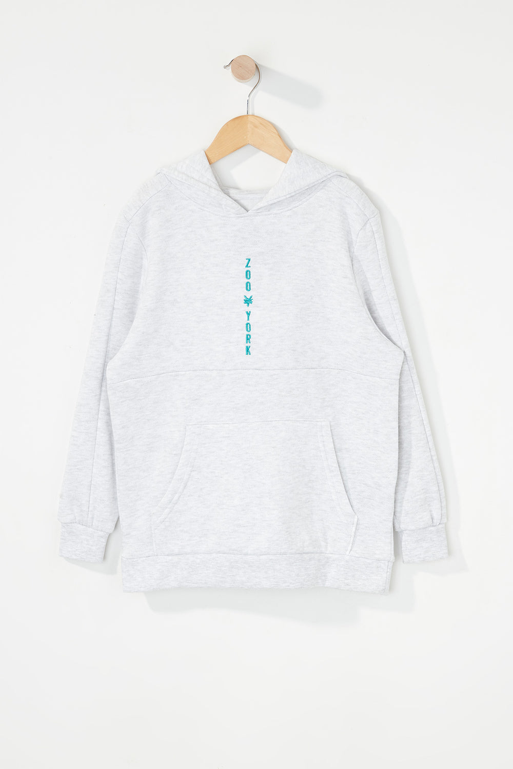 Zoo York Boys Embroidered Logo Hoodie Oatmeal