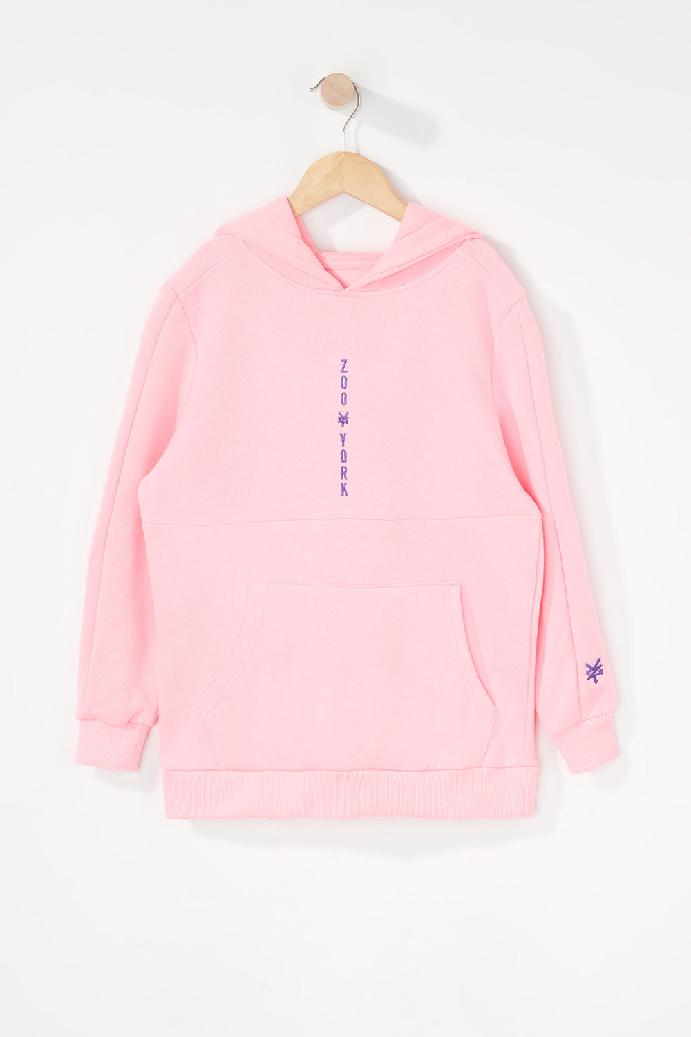 Zoo York Boys Embroidered Logo Hoodie Neon Pink