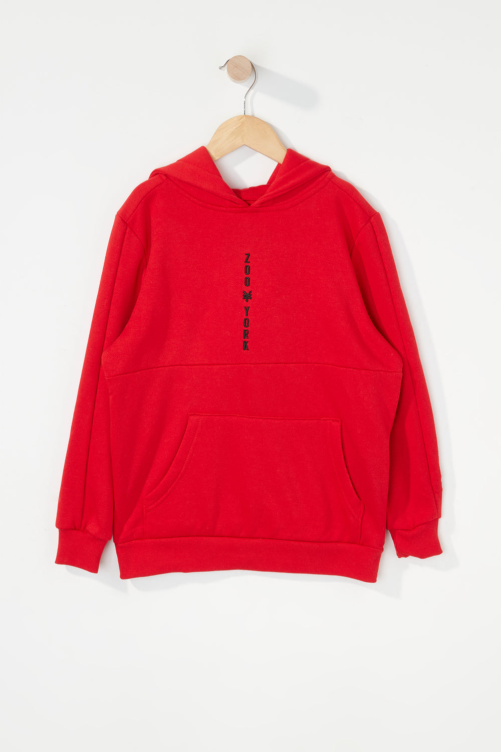 Zoo York Boys Embroidered Logo Hoodie Red