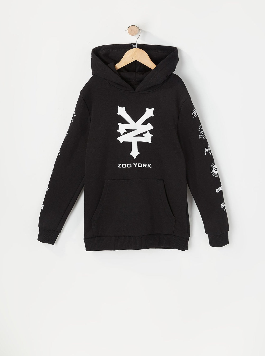 Zoo York Youth Multi Logo Hoodie Black