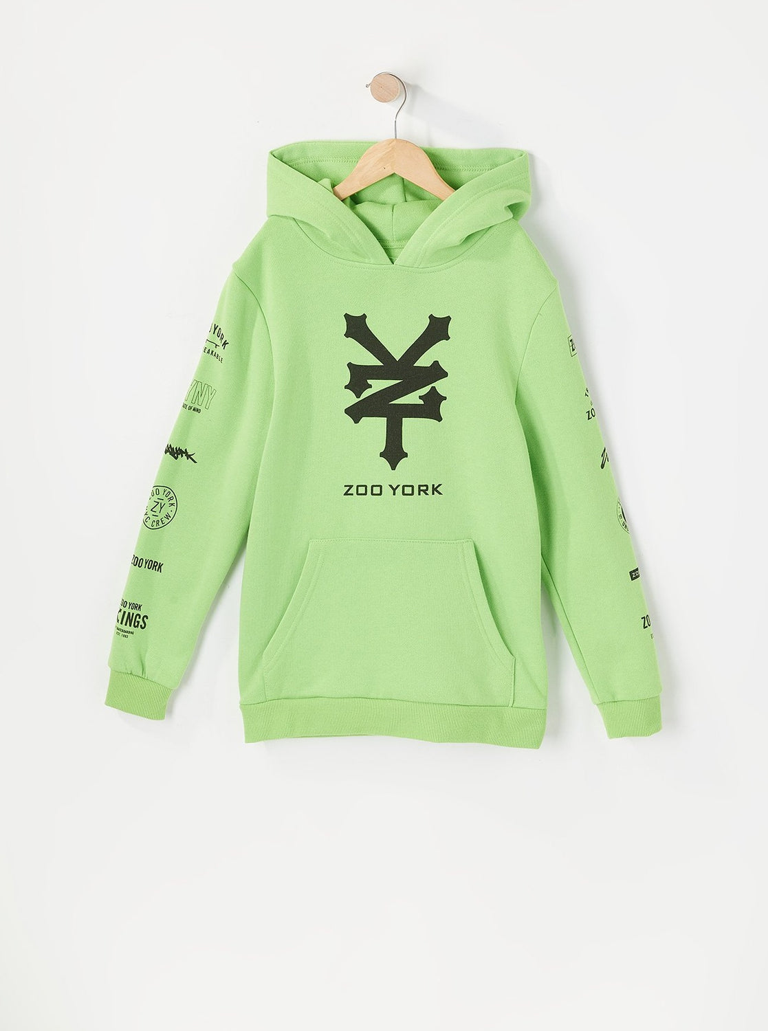 Zoo York Youth Multi Logo Hoodie Green