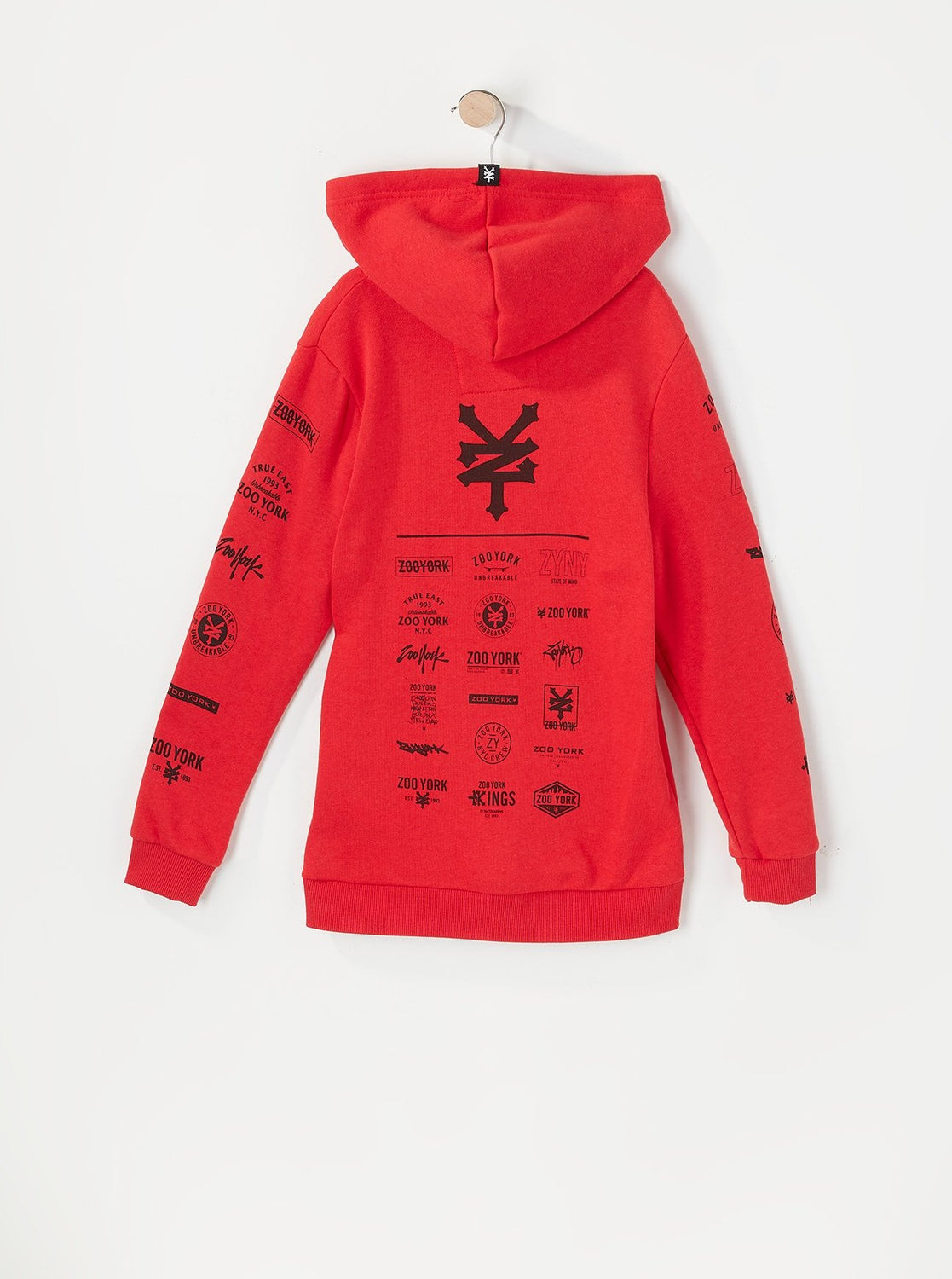 Zoo York Youth Multi Logo Hoodie Red