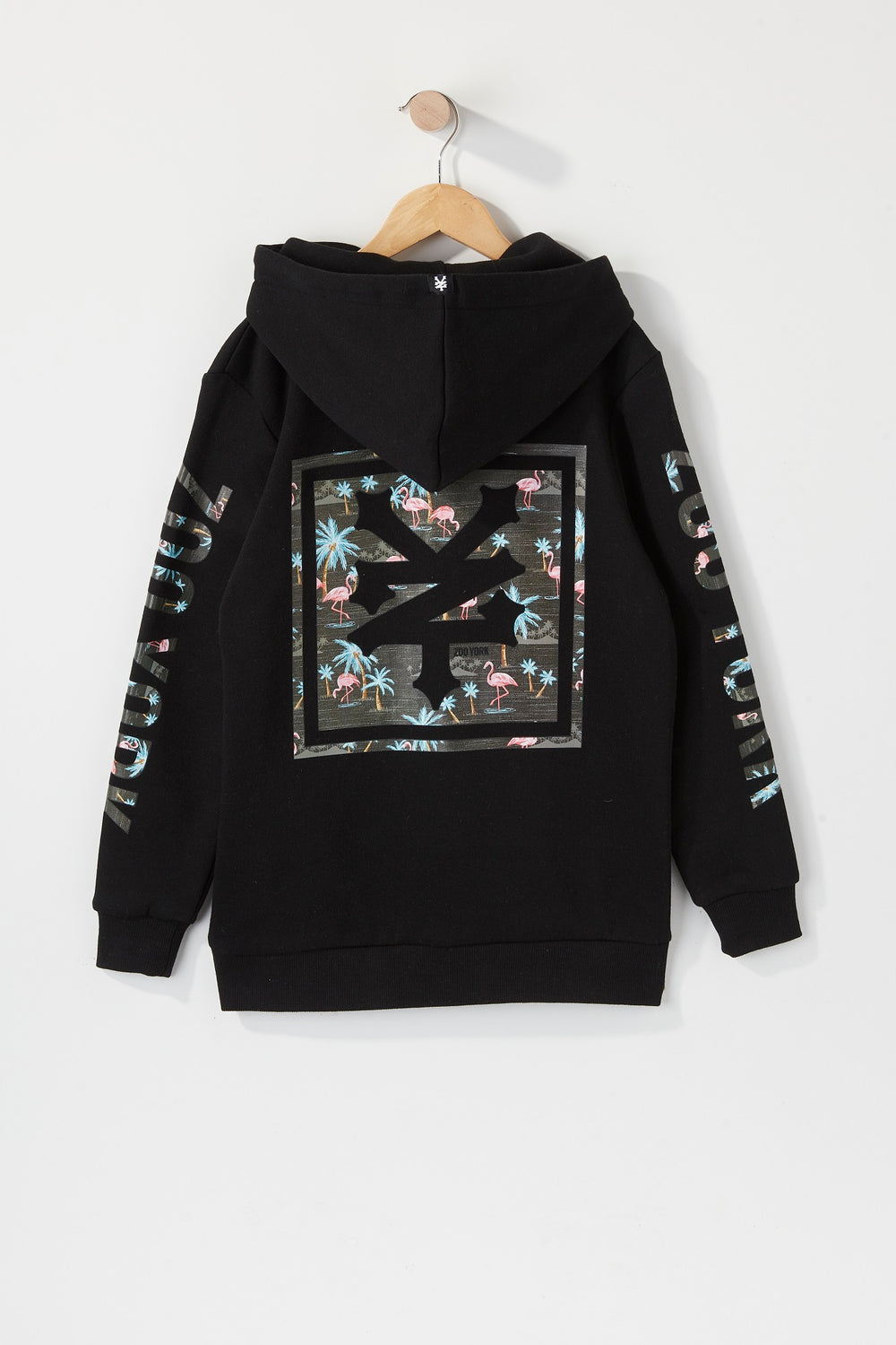 Zoo York Boys Pink Flamingo Logo Hoodie Black