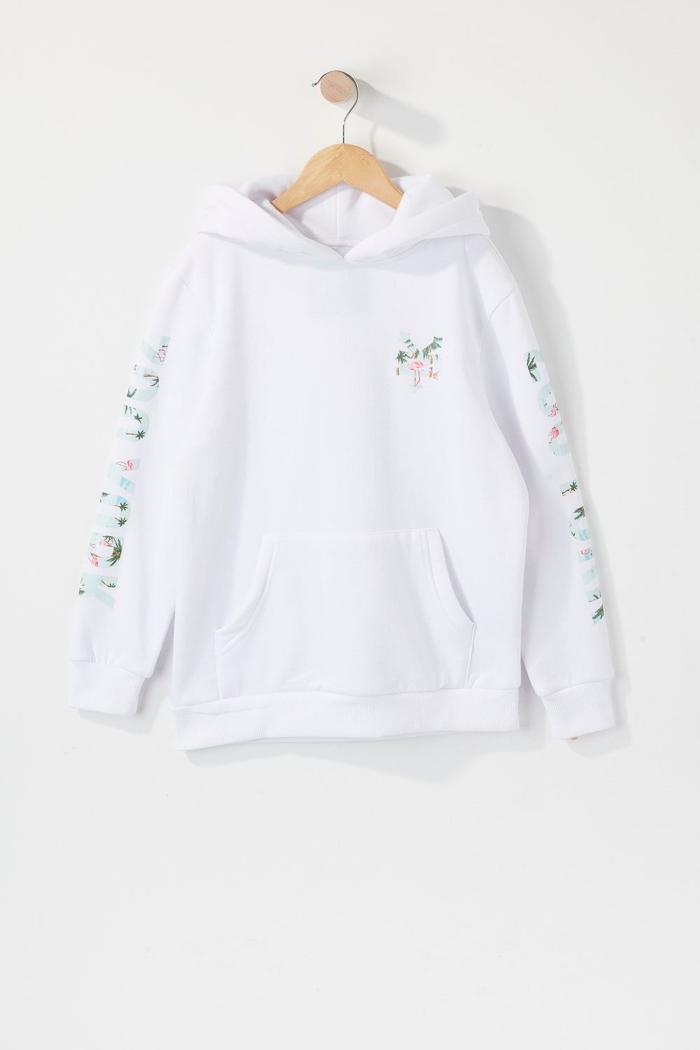 Zoo York Boys Pink Flamingo Logo Hoodie White