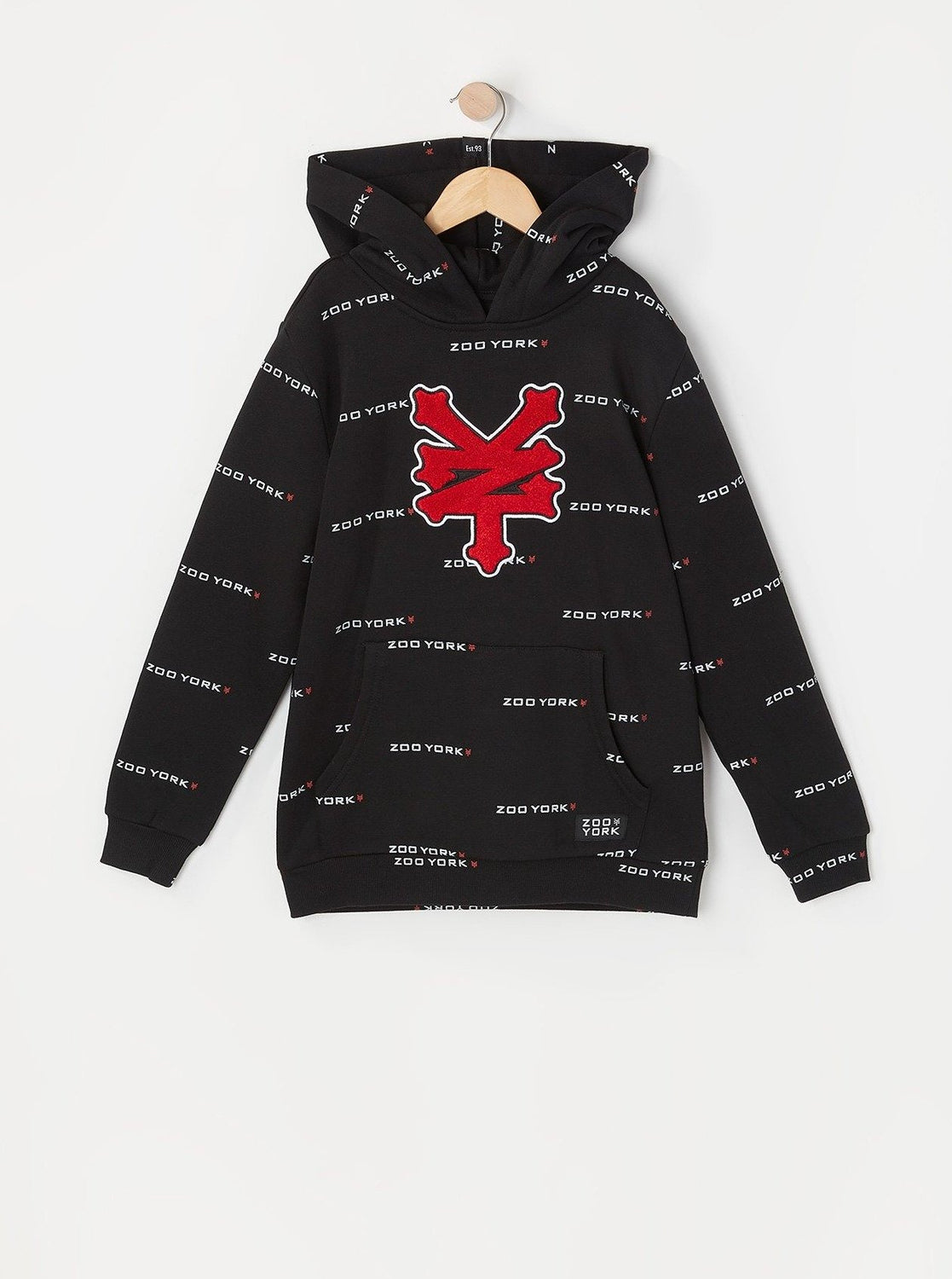 Zoo York Youth Chenille Patch Hoodie Black