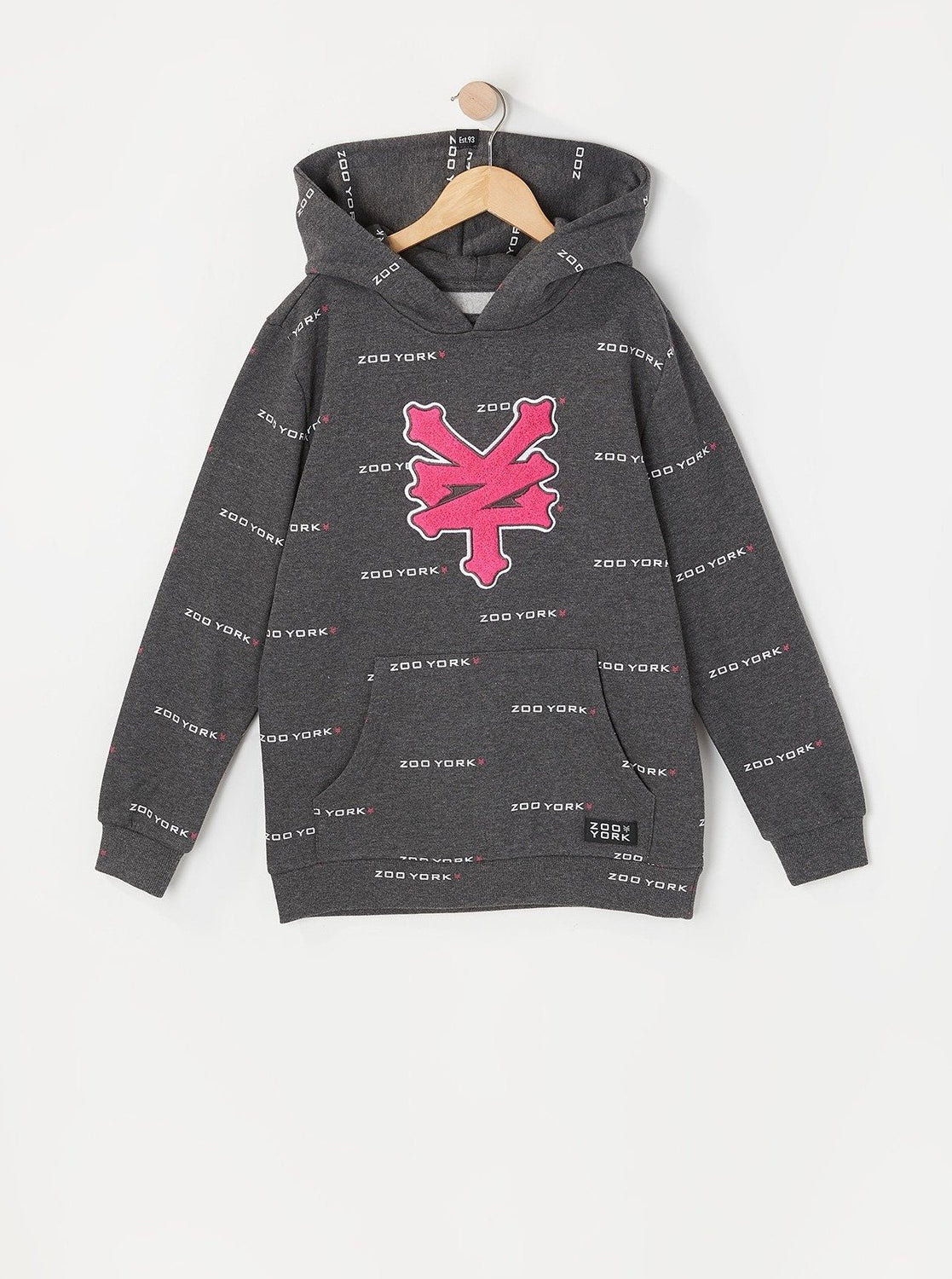Zoo York Youth Chenille Patch Hoodie Charcoal