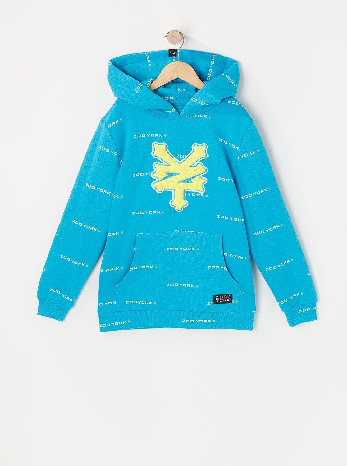 Zoo York Youth Chenille Patch Hoodie Ocean Blue