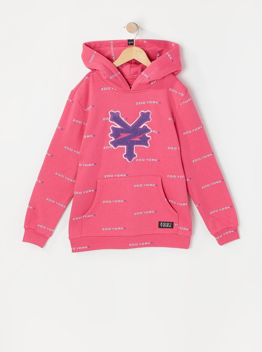 Zoo York Youth Chenille Patch Hoodie Magenta