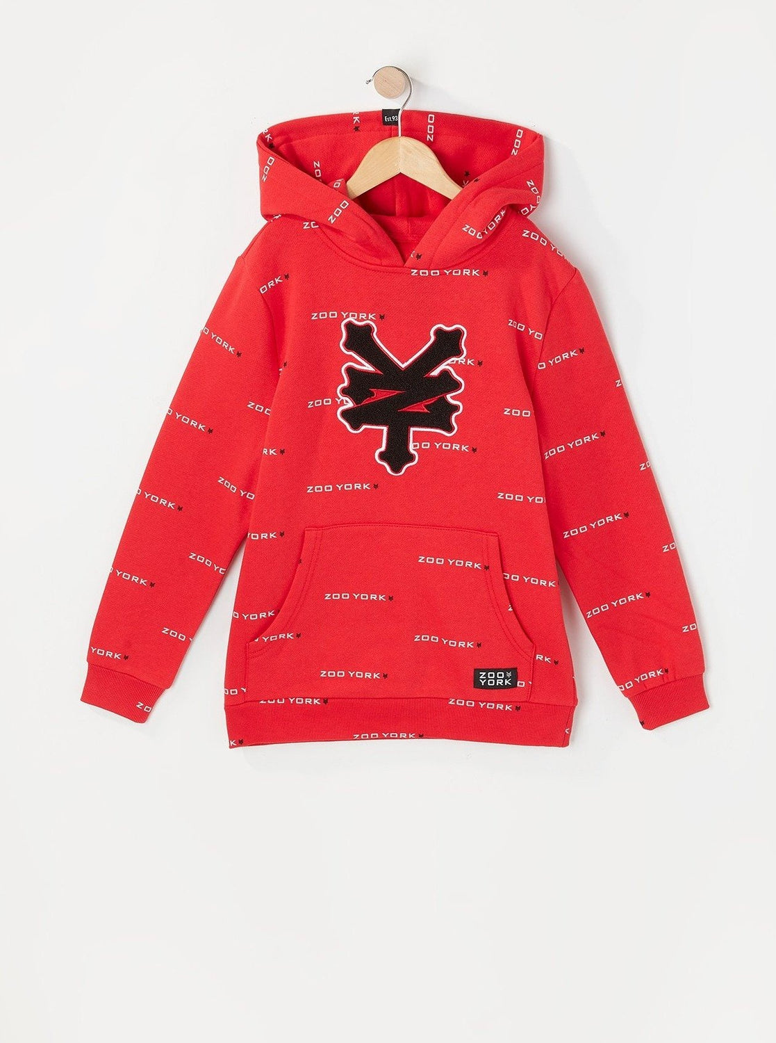 Zoo York Youth Chenille Patch Hoodie Red