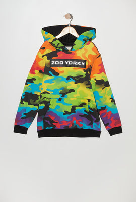 Zoo York Youth Rainbow Camo Reflective Hoodie