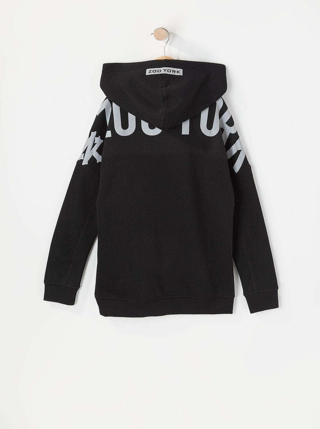 Zoo York Youth Reflective Large Shoulder Print Hoodie Black