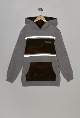 Zoo York Youth Reflective Camo Panel Hoodie