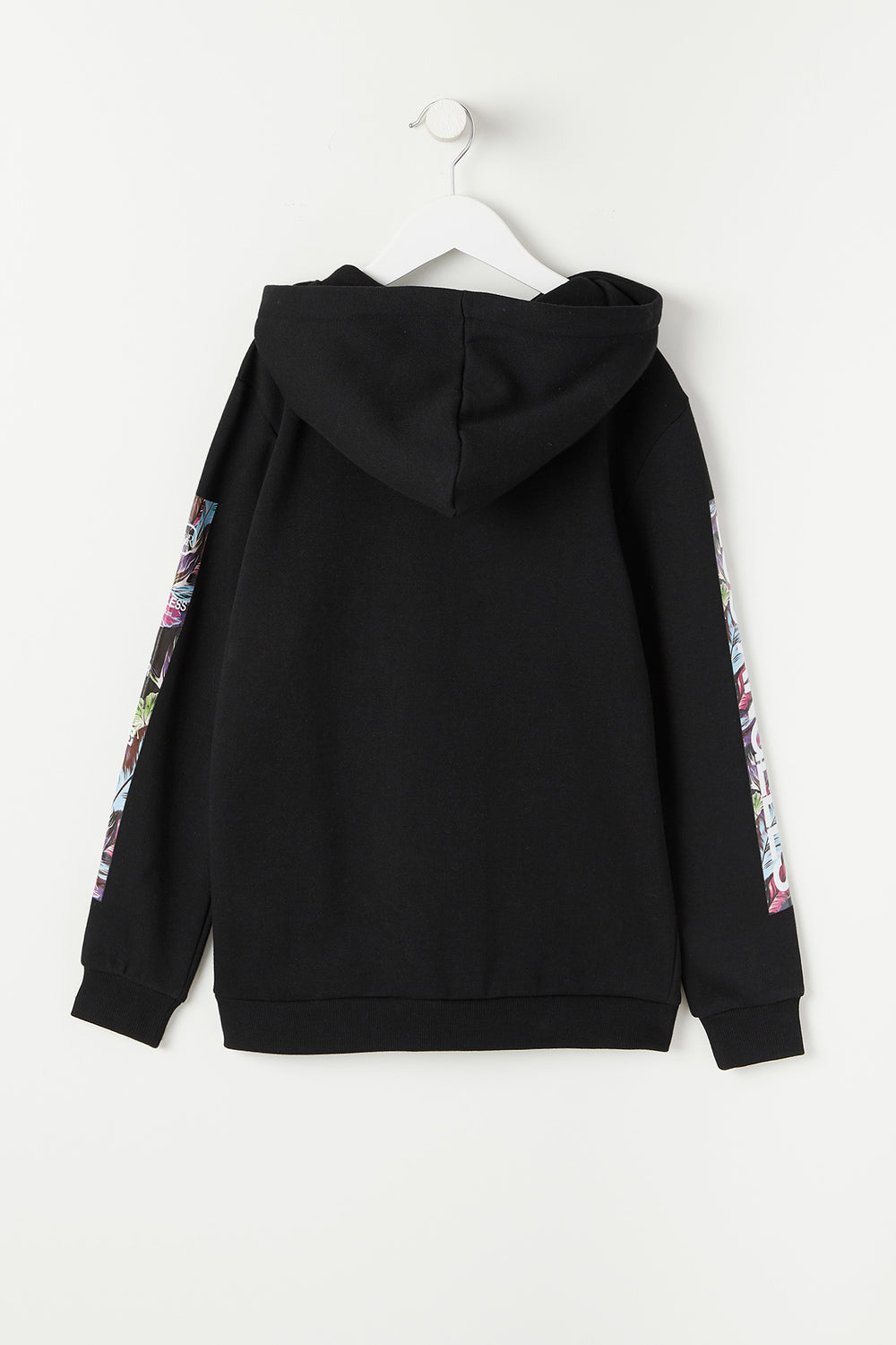 Young & Reckless Youth Floral Fill Hoodie Black