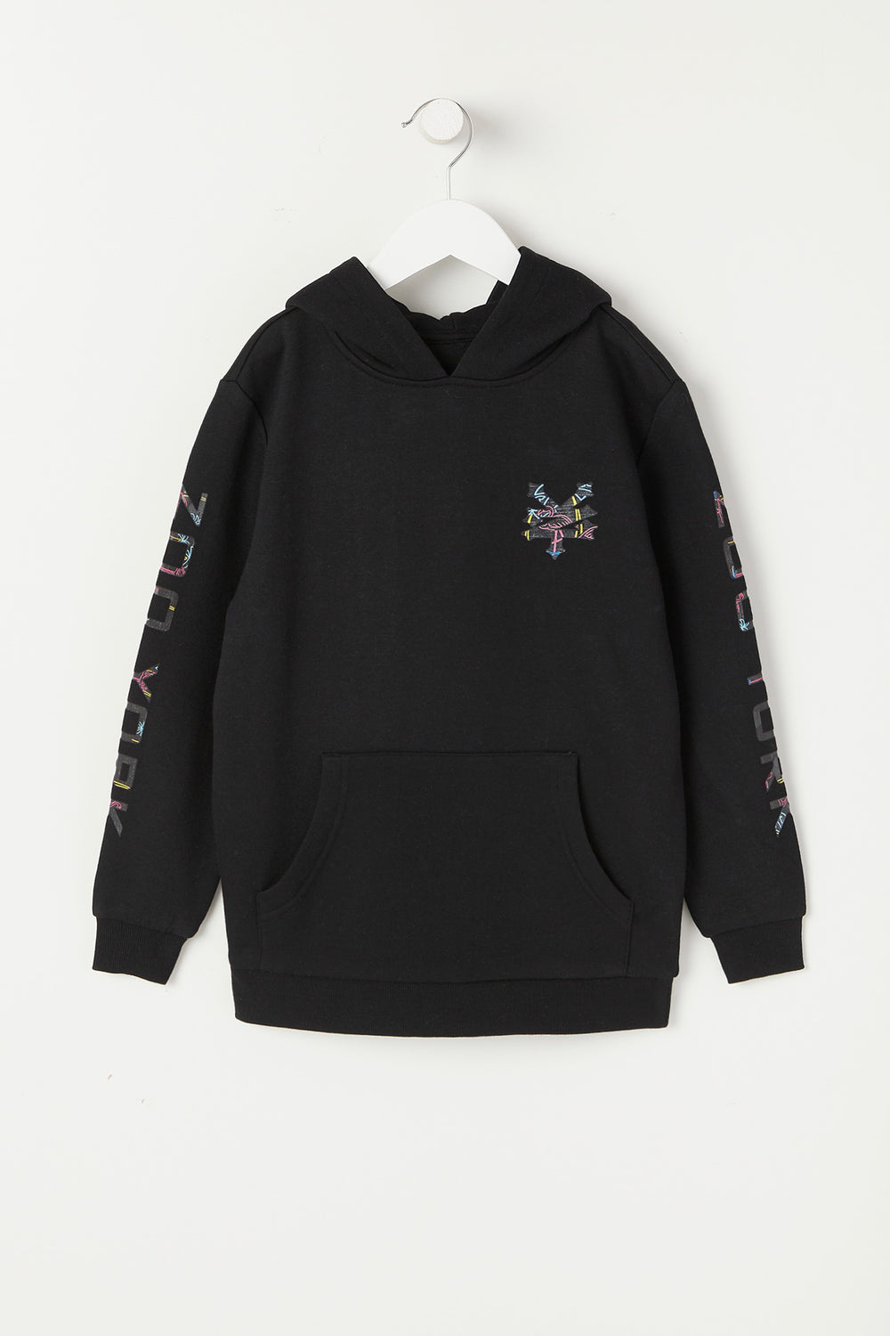 Zoo York Youth Neon Flamingo Fill Logo Hoodie Black
