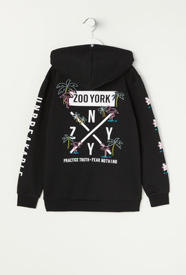 Zoo York Youth Neon Flamingo Hoodie