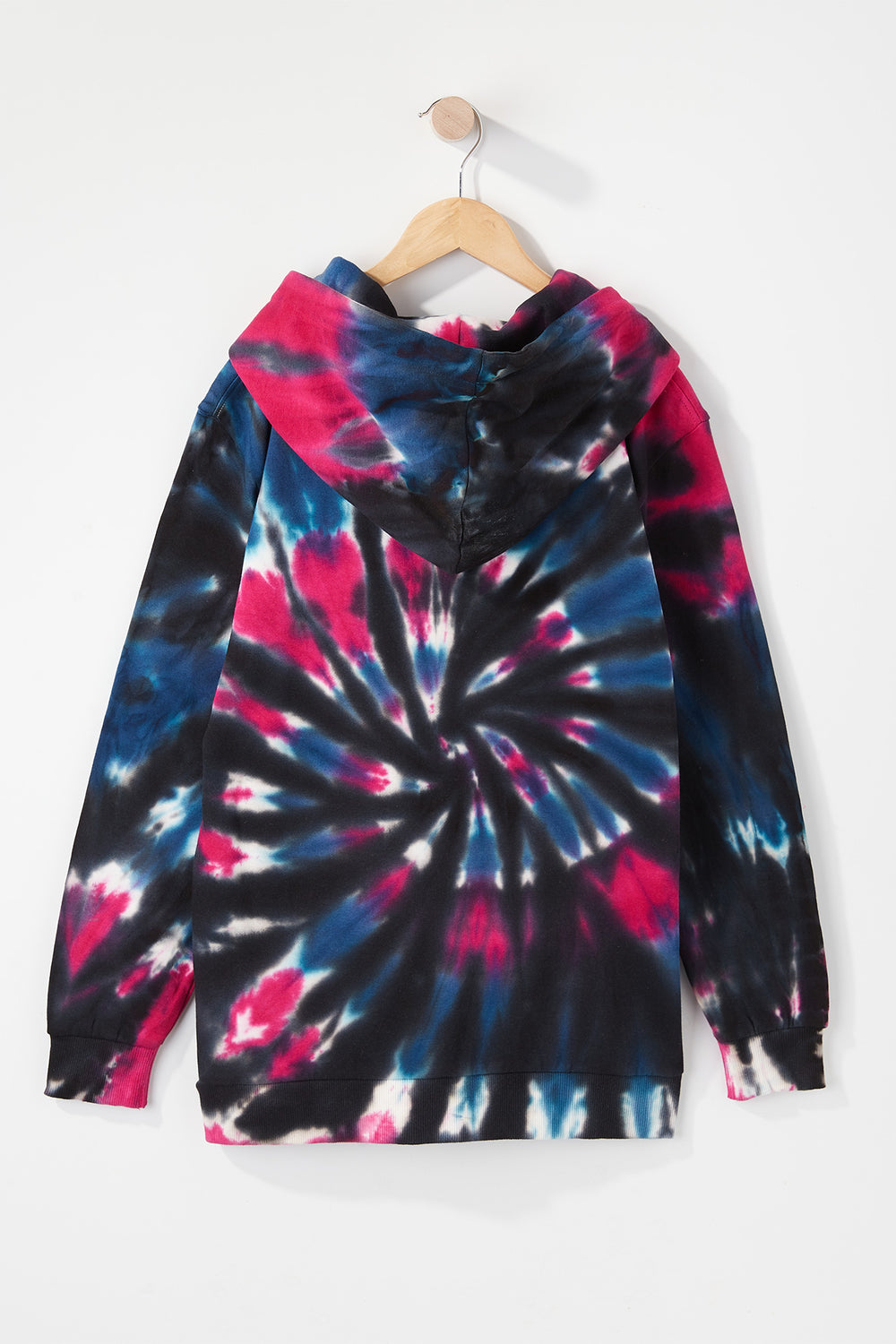Young & Reckless Boys Tie-Dye Pullover Hoodie Black