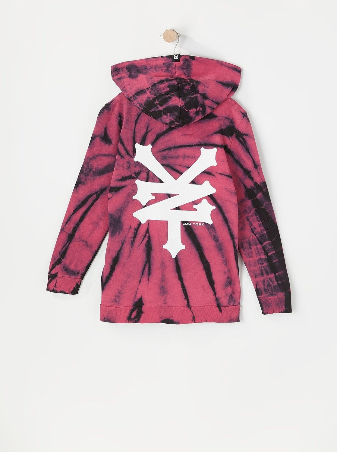 Zoo York Youth Tie-Dye Hoodie Burgundy