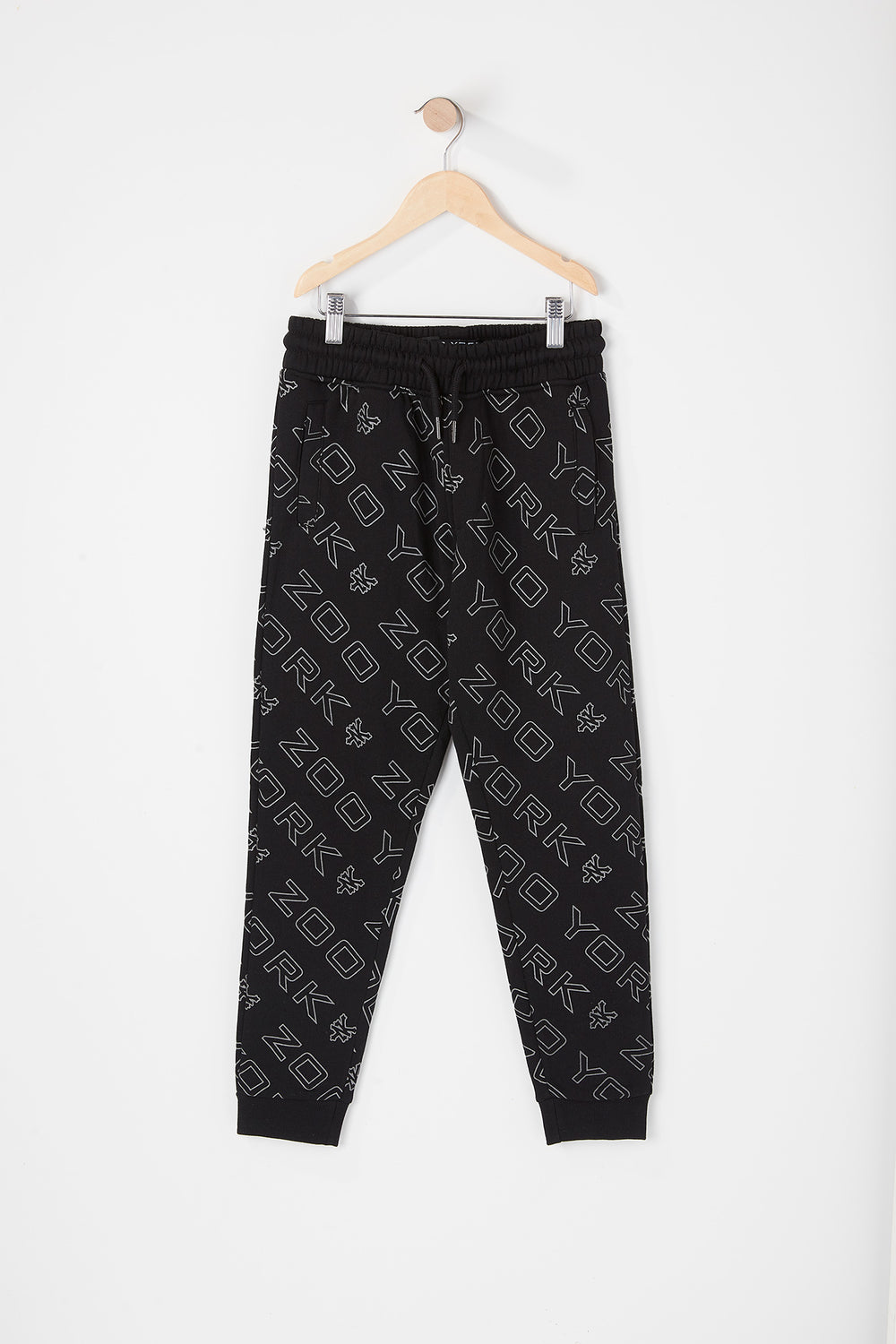Zoo York Youth Reflective Logo Jogger Black