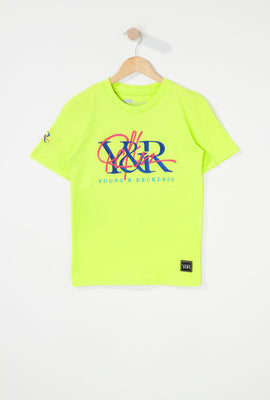 T-Shirt Logos Brodés Young & Reckless Garçon