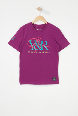 Young & Reckless Boys Embroidered Logo T-Shirt