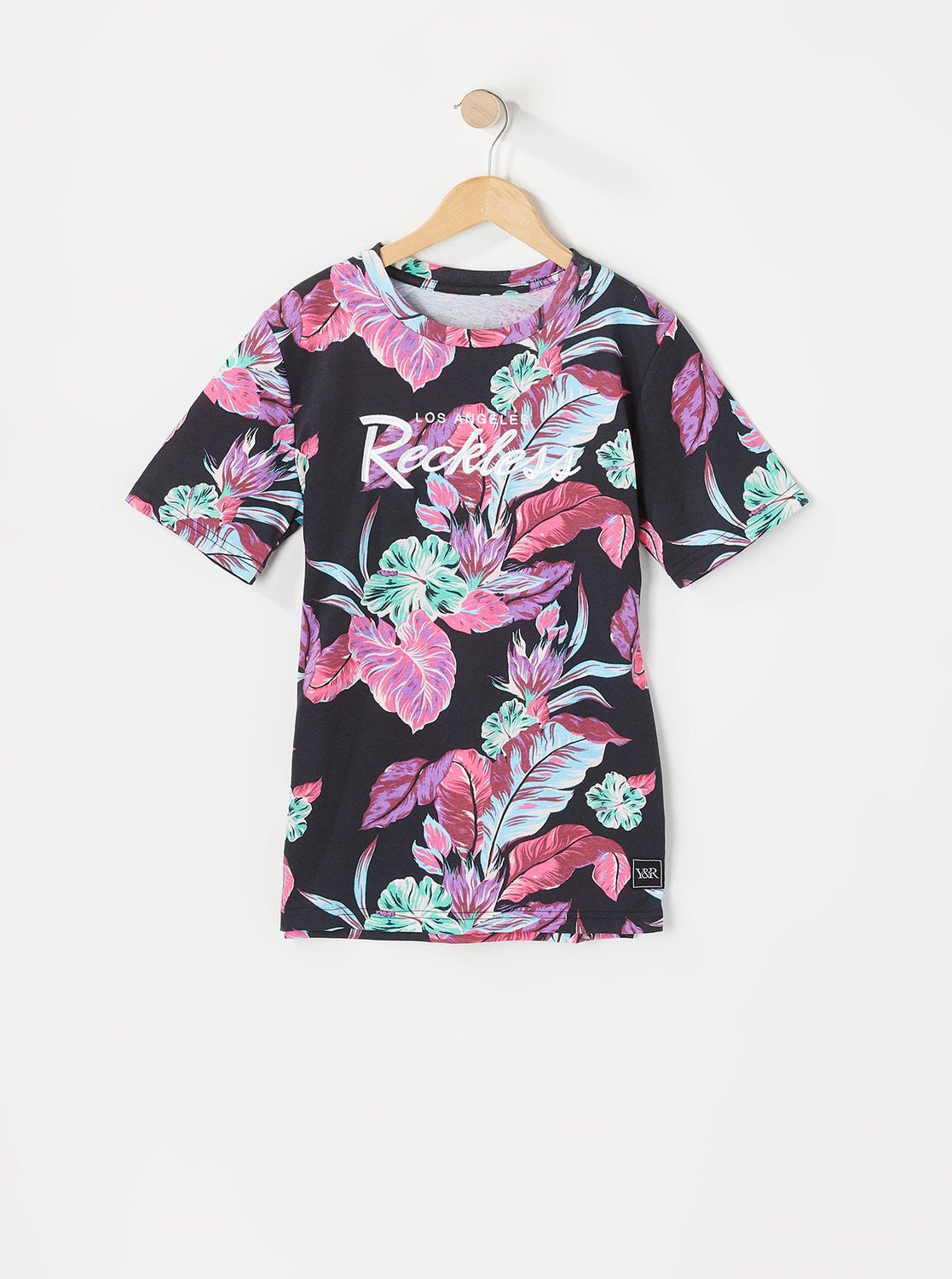 Young & Reckless Youth Neon Floral Print T-Shirt Multi