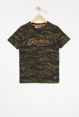 T-Shirt Camouflage Young & Reckless Garçon