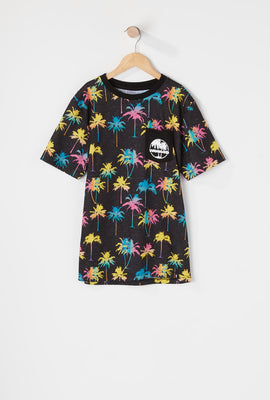 West49 Boys Palm Tree Ringer T-Shirt