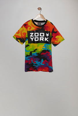 T-Shirt Camouflage Multicolore Zoo York Junior