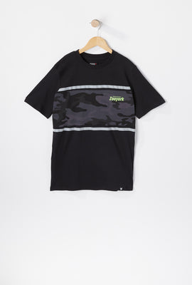 T-Shirt Paneau Camouflage Zoo York Junior