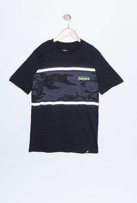 Zoo York Youth Reflective Camo Panel T-Shirt