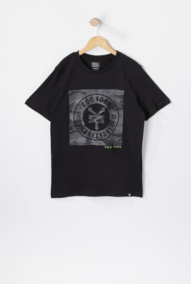 Zoo York Youth Camo Embossed Print T-Shirt