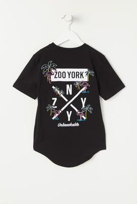 T-Shirt Logo Flamants Néons Zoo York Junior