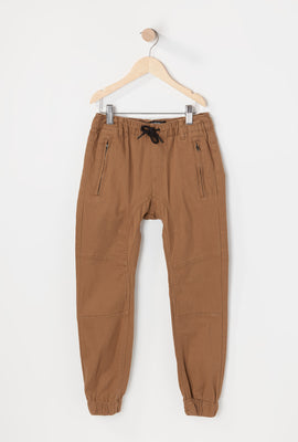 Zoo York Youth Solid Twill Zip Jogger