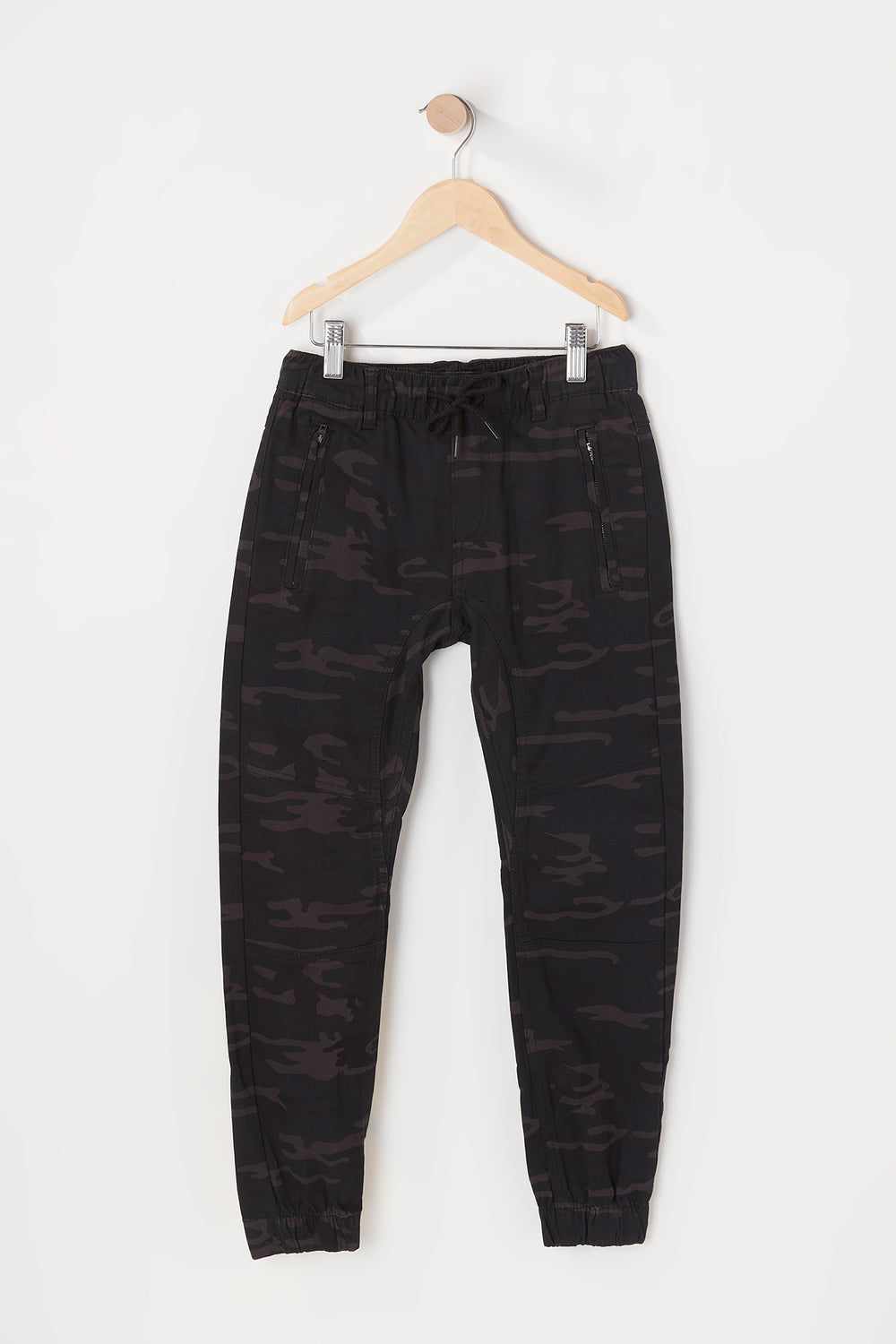 Zoo York Youth Camo Jogger Black with White