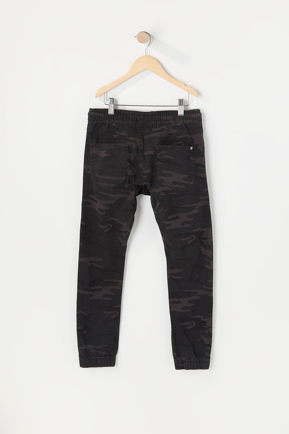 Zoo York Youth Twill 5-Pocket Camo Jogger Black with White