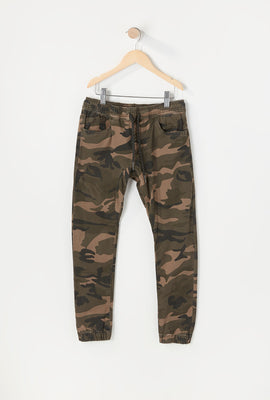 Zoo York Youth Twill 5-Pocket Camo Jogger