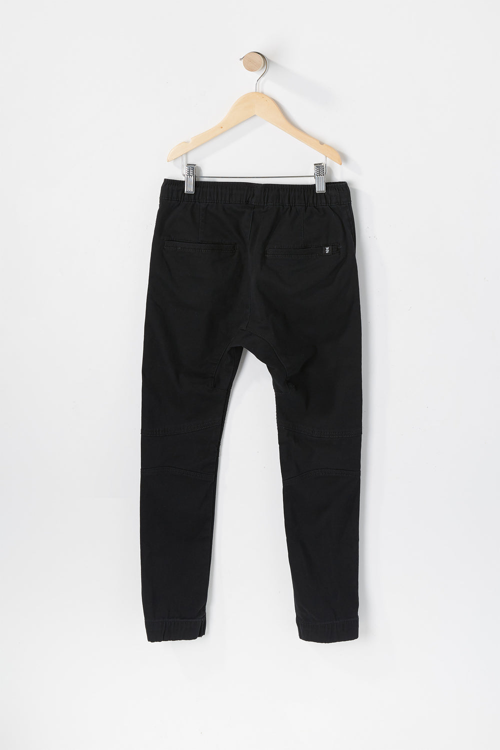 West49 Youth Solid Twill Moto Jogger Black