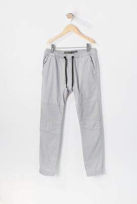 West49 Youth Solid Twill Moto Jogger