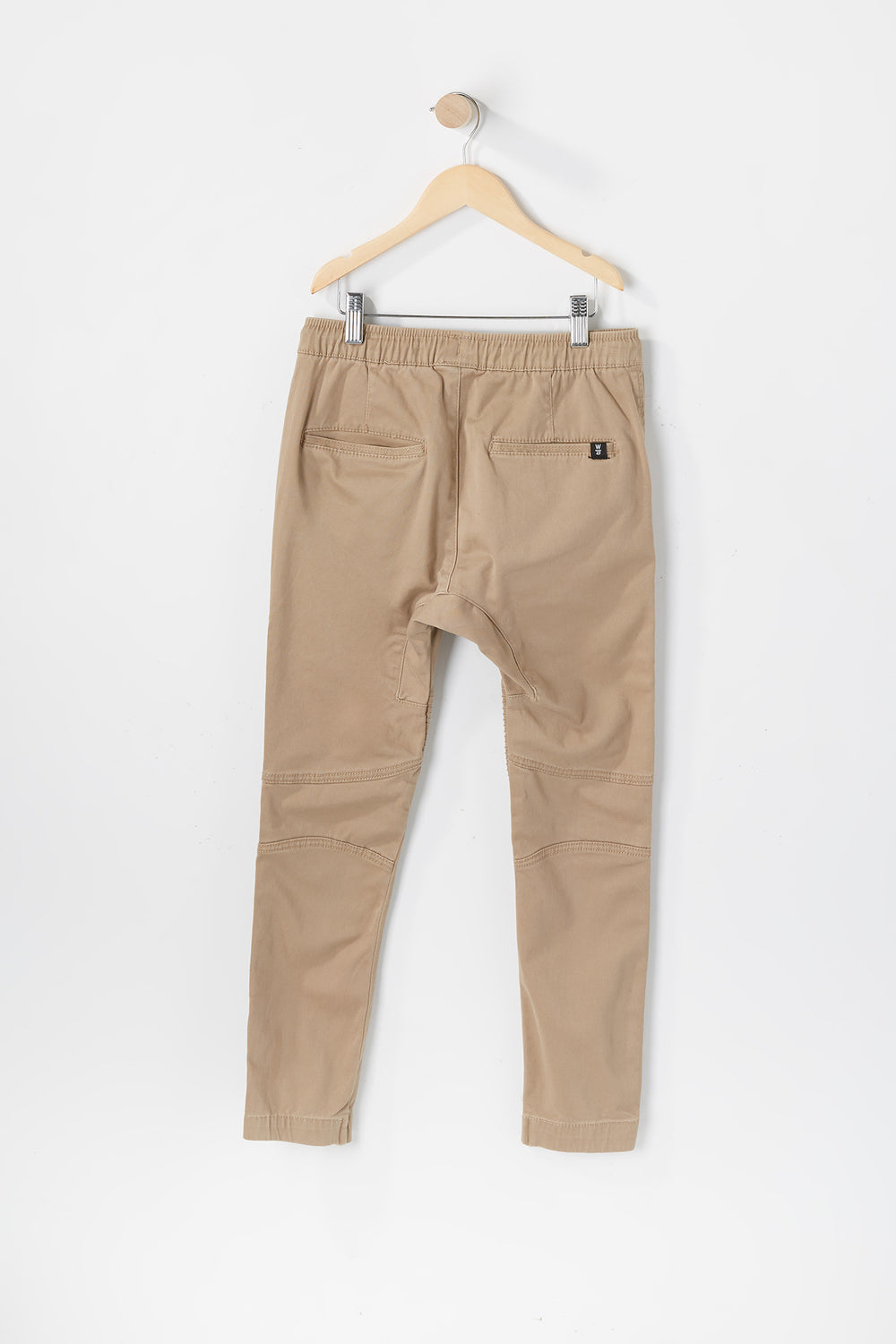 West49 Youth Solid Twill Moto Jogger Sand