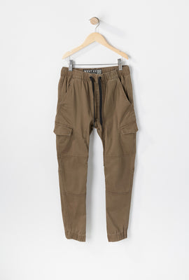 West49 Youth Solid Twill Cargo Jogger