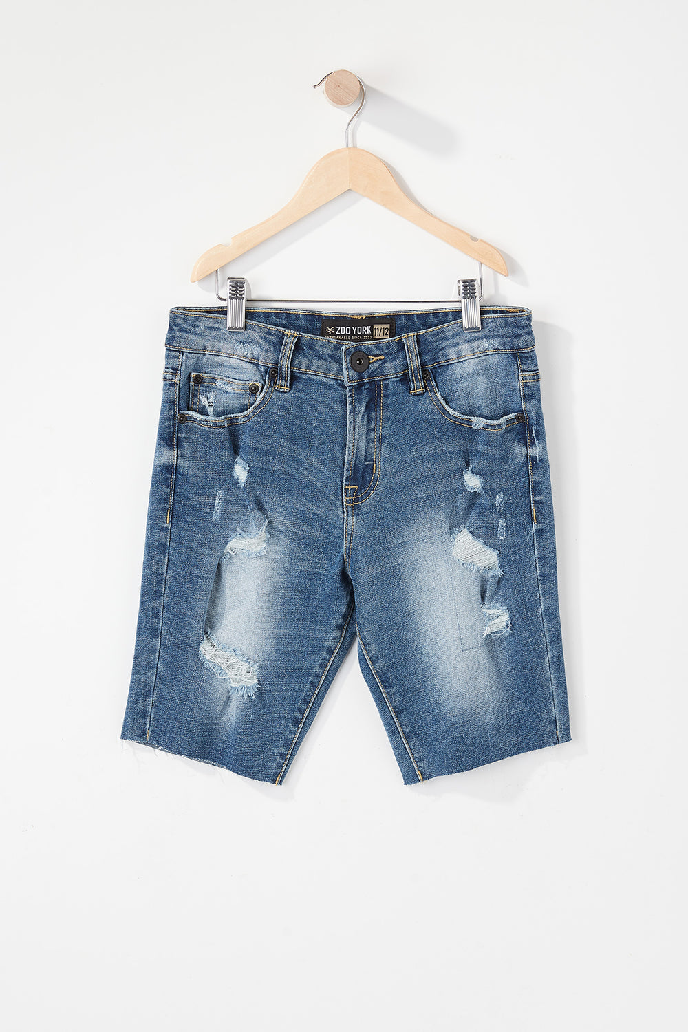 Short Jean Mince Extensible Zoo York Junior Bleu moyen