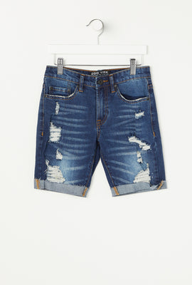 Zoo York Youth 5 Pocket Dark Denim Short