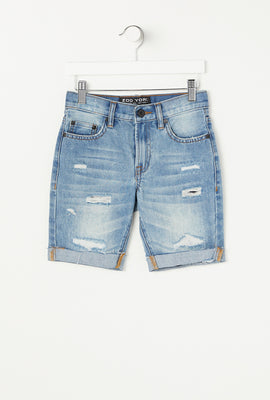 Zoo York Youth 5 Pocket Light Wash Denim Short