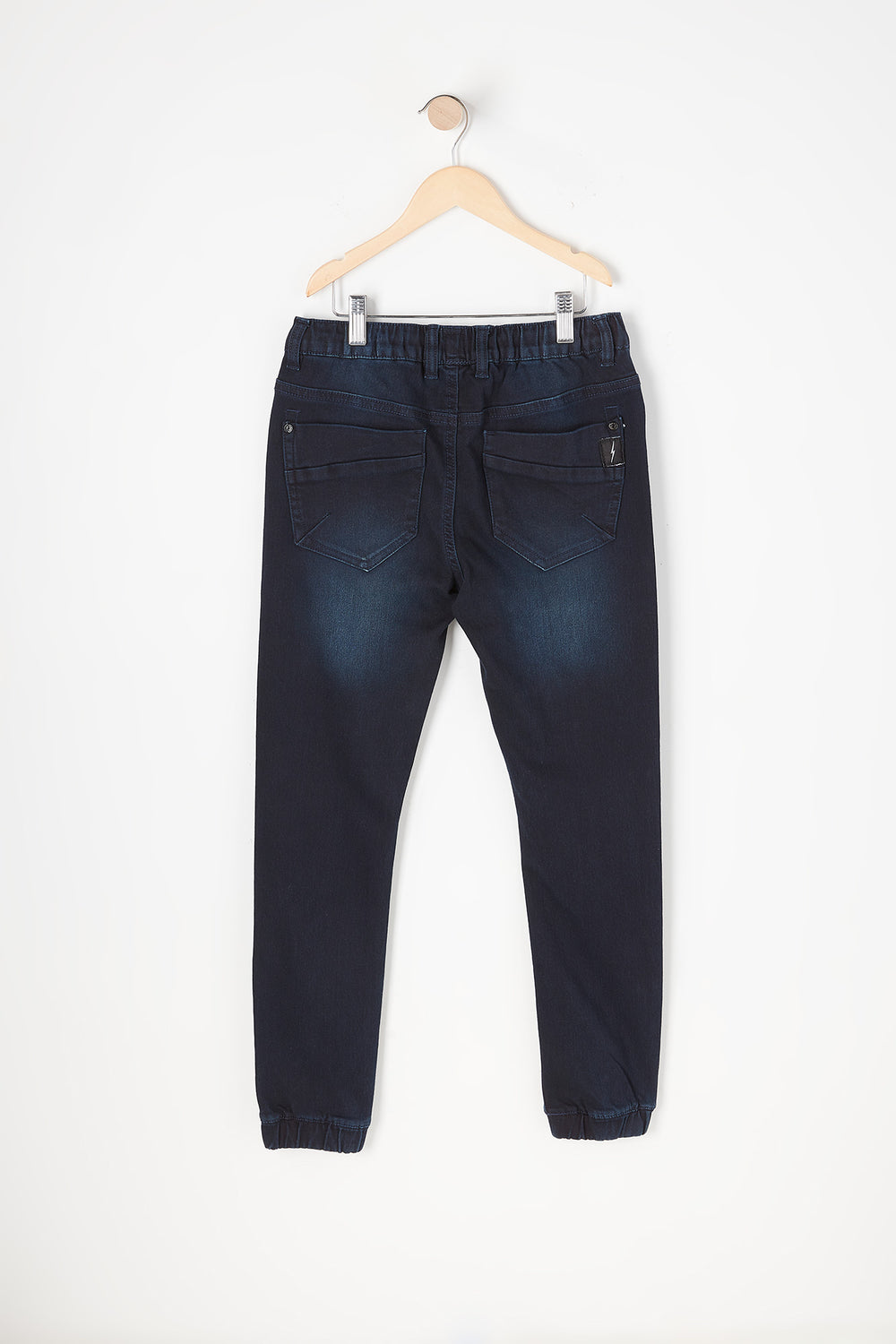 Youth Dark Blue Denim Jogger Pacific Blue